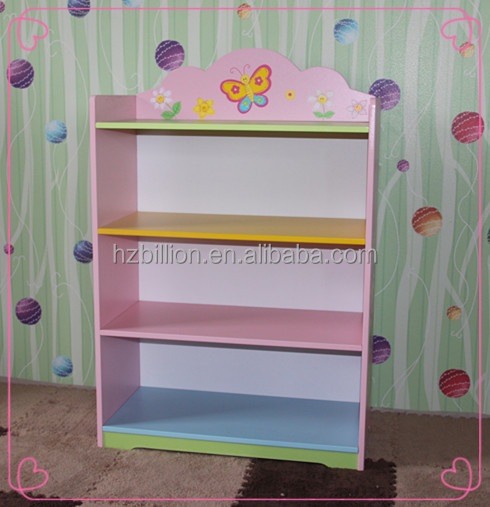 Fashion And Finest Quality Hand Painted Pink Girl Fariy Toy Storage  Organiser Box Bookcase Kids Furniture
