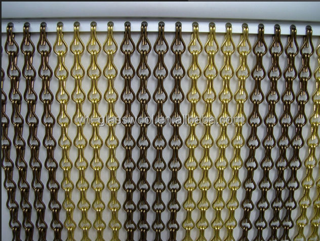 Custom Made Stylish Aluminum Chain Hanging Partition Door