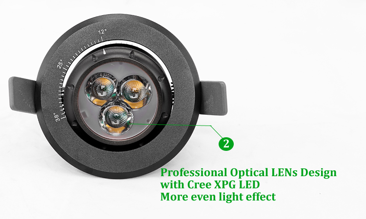 7w Ce Focus Zoom Gimbal Focus Recessed Led Ceiling Light For ...