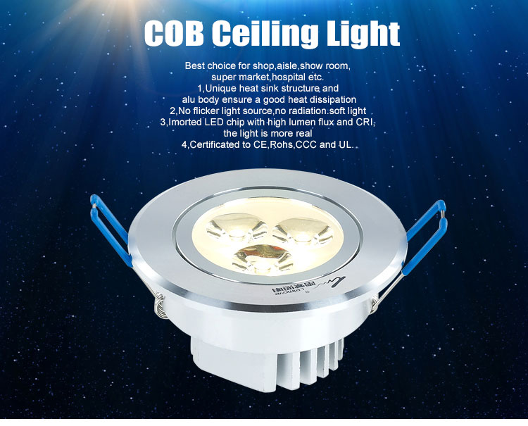new design round recessed 12w led downlight