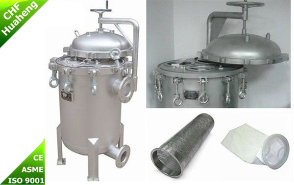 Industry Stainless Steel Multi Cartridge Bag Filter Housing  Coarse Water Purification System