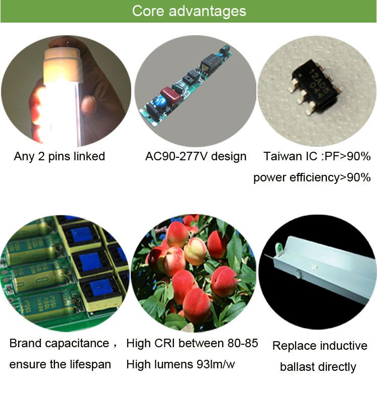 18w 1200mm Fluorescent Lights Ballast Cfl Bulbs Tube Led T8 Tube ...
