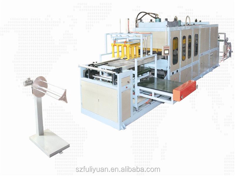 2019 Disposable box making machine FLY-110/135 ps fast food box/plate making machine