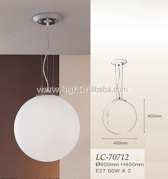 Modern White Hanging Lights/round Glass Pendant Lamp For Dining ...