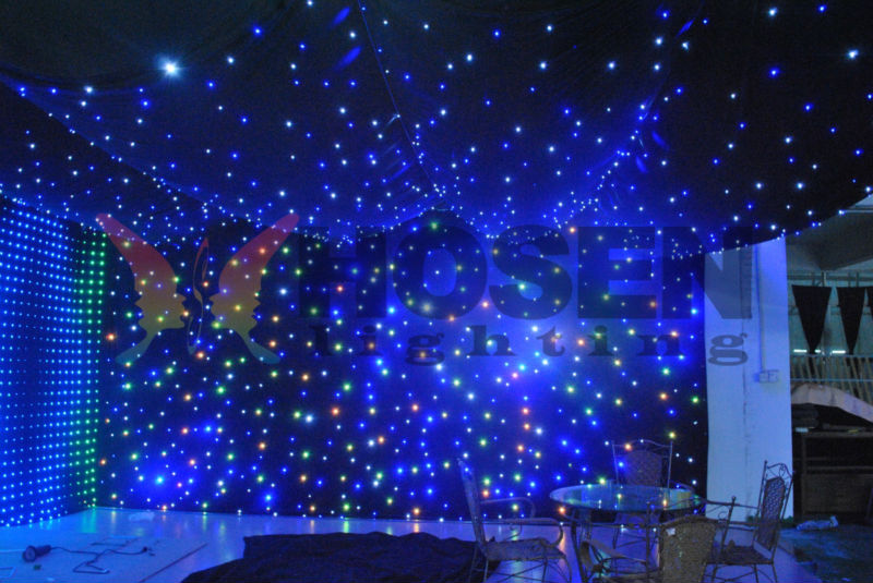 Colorful Led Star Curtain Stage Wall Light Hs-e25