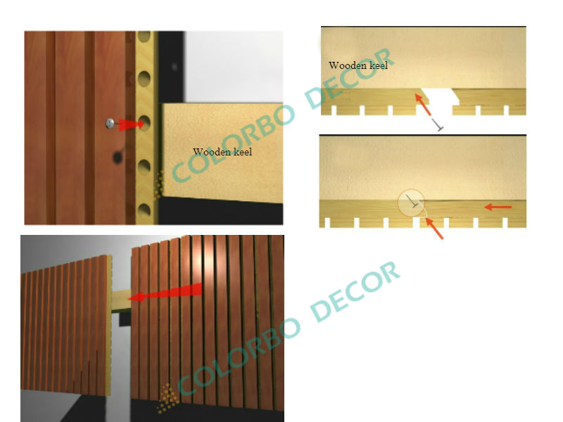 3d Curve Wooden Decorative Acoustic Sound Diffuser Absorption Wall ...