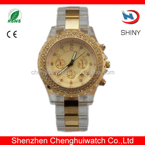 Popular Item Transparent Strap Plastic Watch Wrist Watch