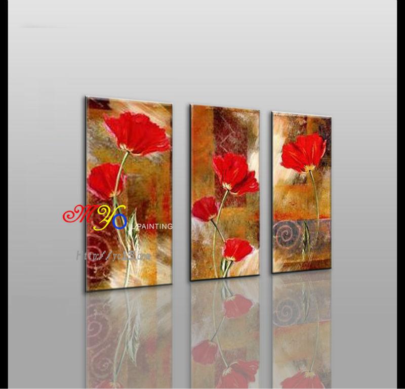 Moderne Fleur Rouge Fleurs Peintures à L Huile Décoration Murale D Intérieur Buy Peintures à L Huile De Fleurs Rouges Peinture à L Huile De Fleurs