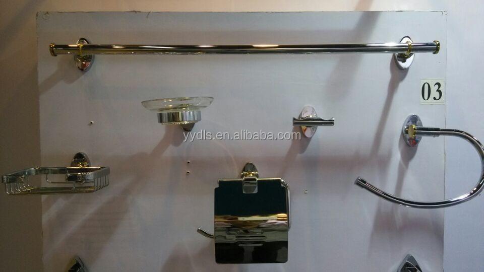 B03 100 brass bathroom accessories set gold plated brass - Chrome plated brass bathroom accessories ...