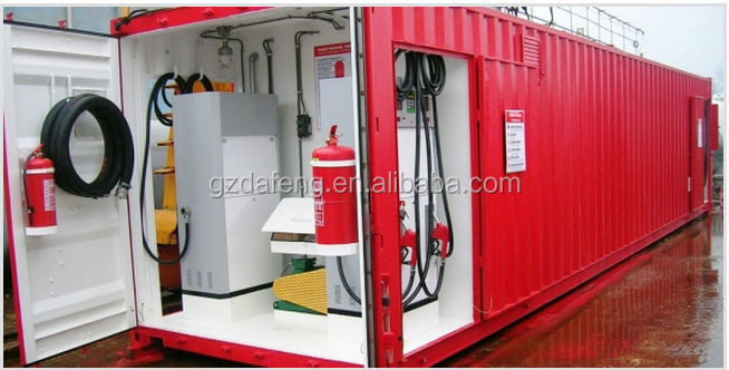 Portable Skid Mounted Container Mobile Fuel Station