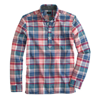Mens Fashion Cotton Casual Flannel Check Long Sleeve Half Button ...