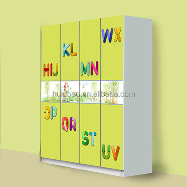 4 Doors Wardrobe Yellow Wardrobe For Kids Four Door