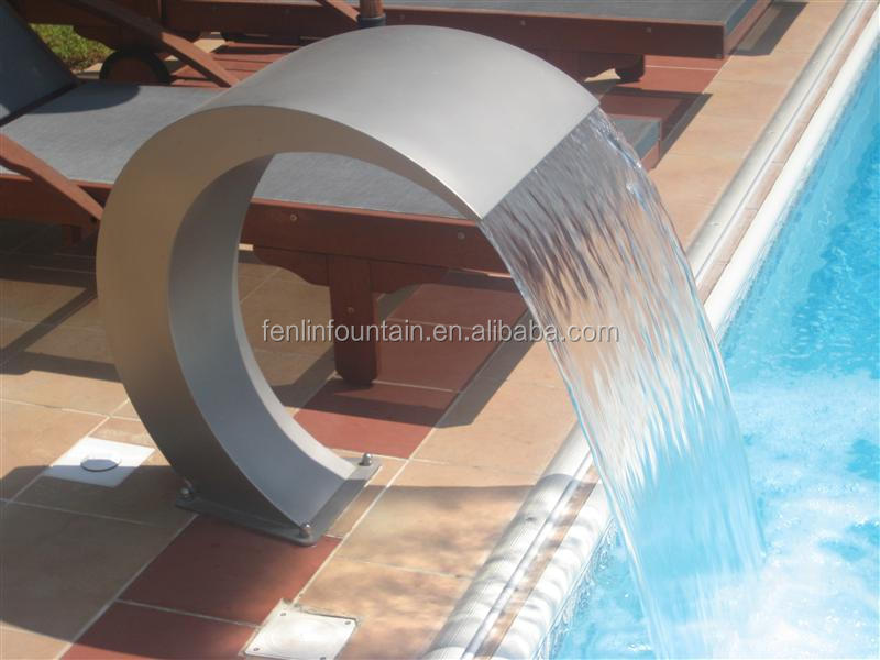 Swimming pool decorative arc metal water curtain fountain buy water curtain fountain graphical - Decorative water spouts ...