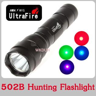 Ultrafire Wf-502b Cree Q5 Rgb Red/green/blue/purple Color Light ...