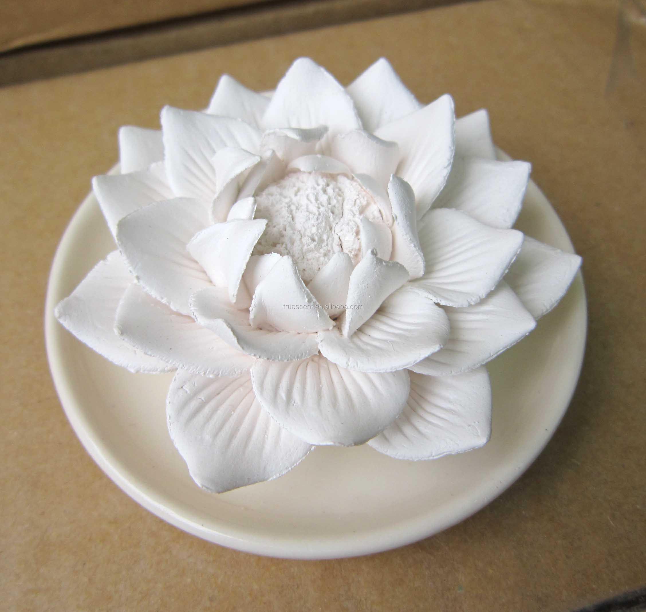 Handmade Scented Rose Flower Ceramic Stone Oil Diffuser