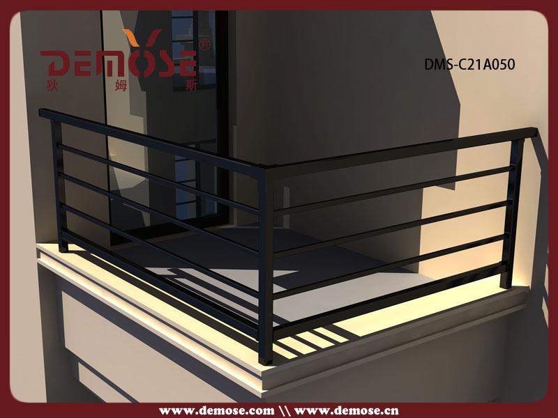 balcony aluminum square pipe railing/handrail design, View ...