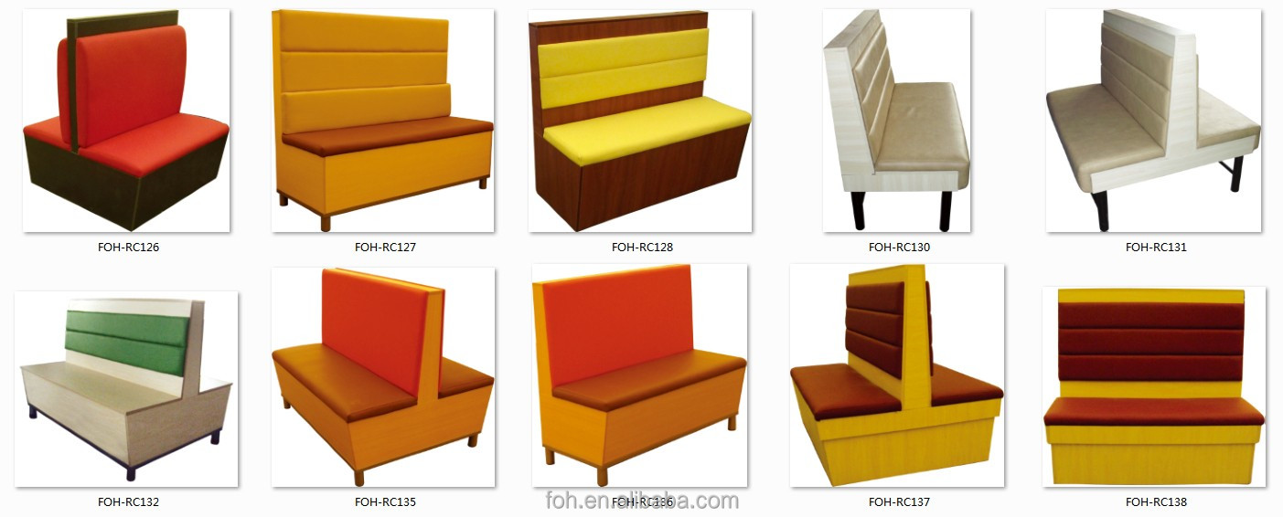 Modern restaurant furniture - Guangzhou Modern Fast Food Restaurant Furniture Project Design Foh Xm60