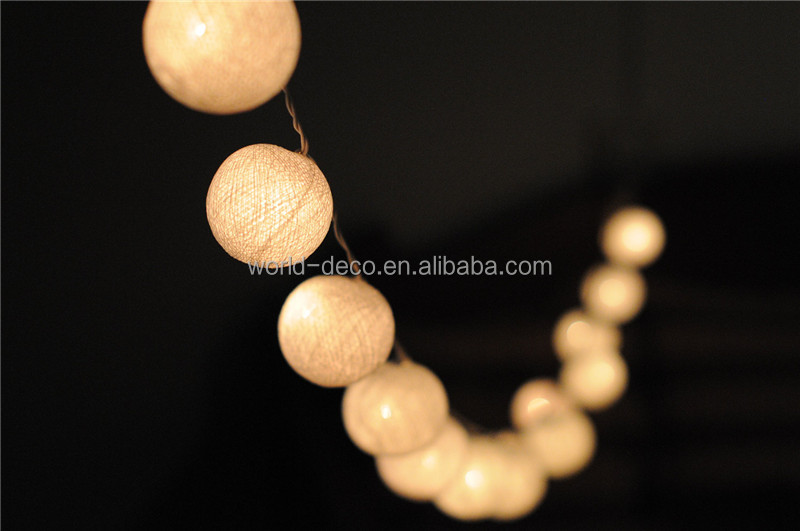 Led Colorful Cotton Light Ball / String Light Cotton Balls ...