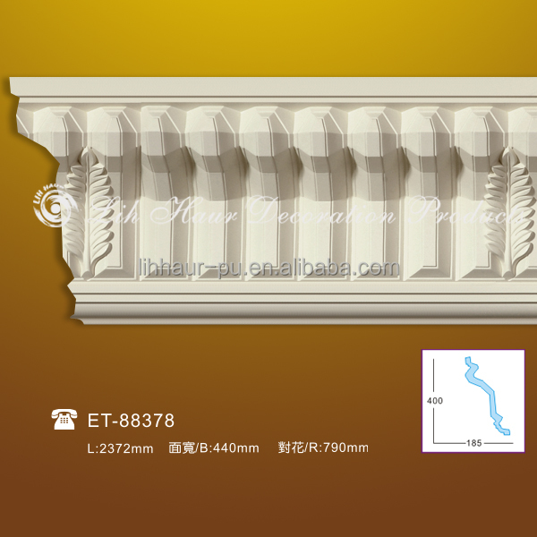 New Style Energy-efficient Pu Cornice/ Pu Carving Cornice Molding ...