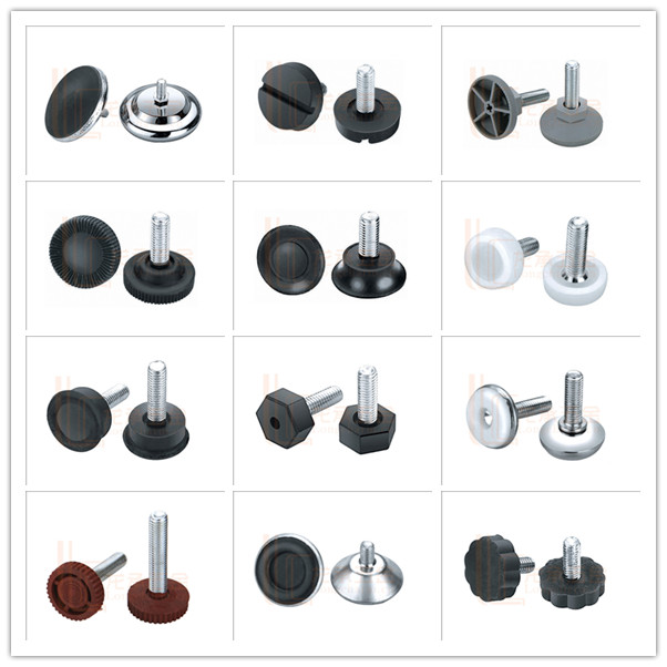 Chrome Finish Adjustable Furniture Glides With Screw For Carpet