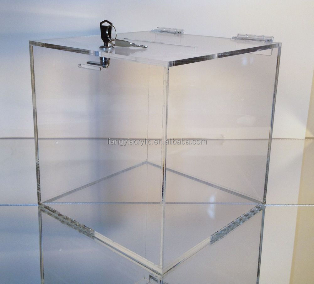 Acrylic Box Lid : Clear acrylic storage box with lid factory buy