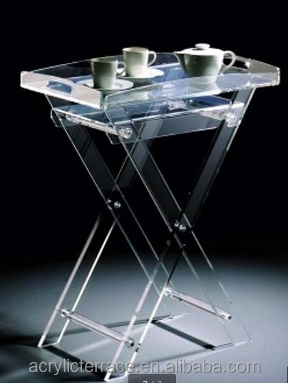 Acrylic Hotel Serving Tray On Stand HA14030101042 Acrylic Serving Tray Vanity  Tray Table