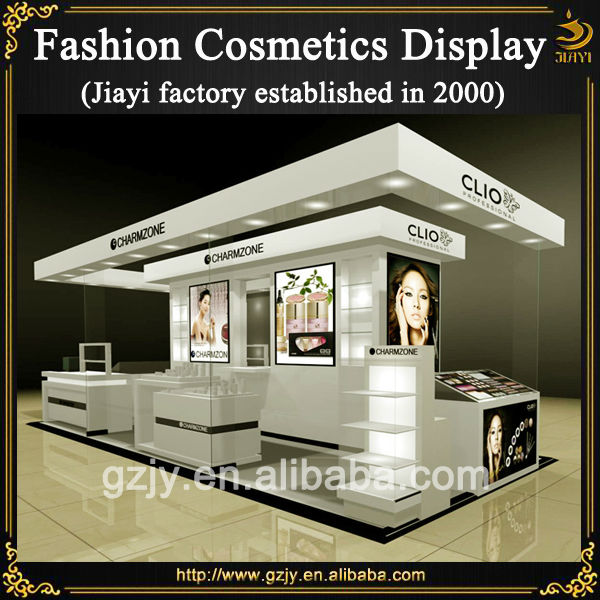 High End Wooden Cosmetic Pop Displays Design And Glass