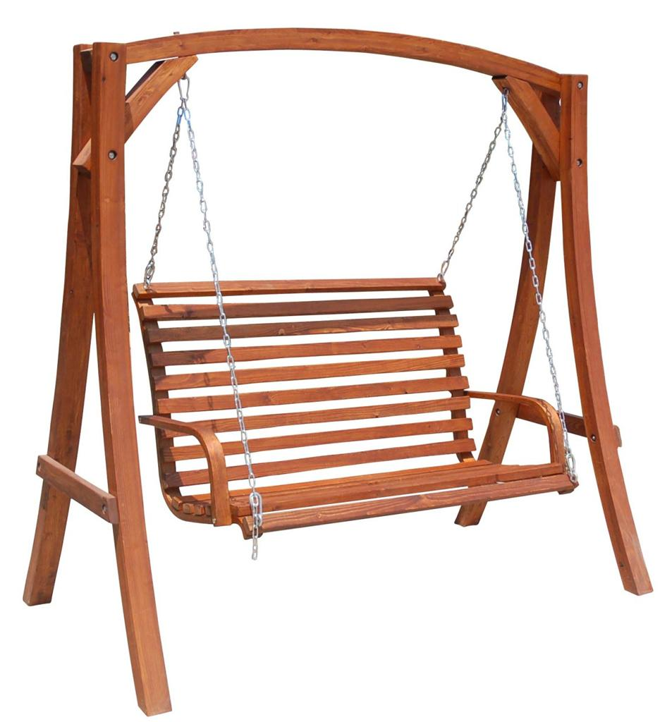 Solid Hardwood Outdoor Wooden Hanging Chair Swinging Chair Timber