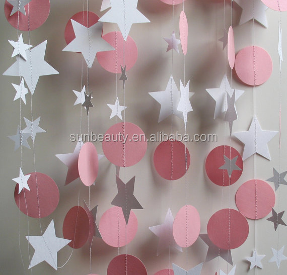 Hanging Handmade Paper Garland Party Decoration Home Decoration