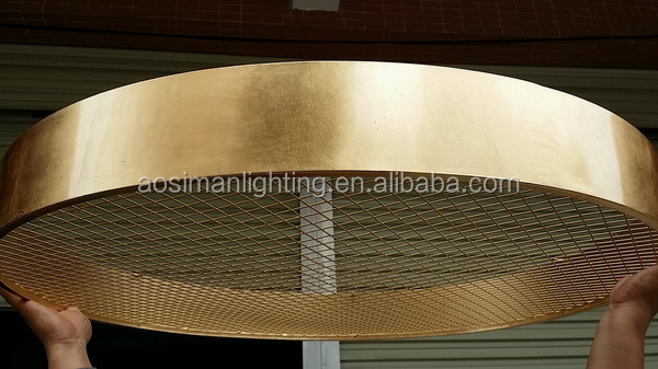 Masiero Style Gold Finish Crystal Light with Luxury Foil Shade
