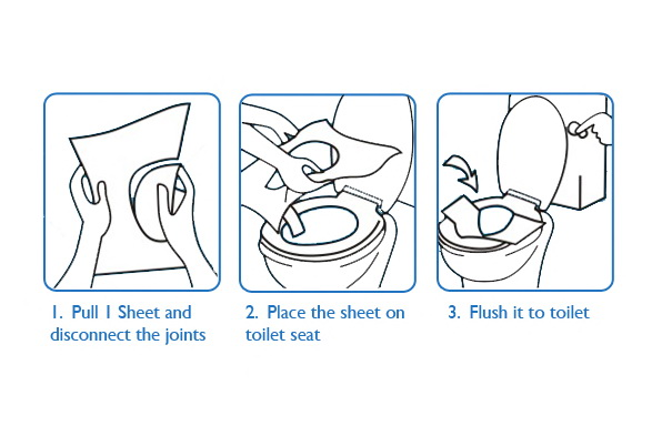 Anti Bacteria 1/2 Folding WC Toilet Seat Cover Paper Manufacturers