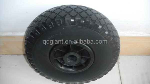 10 inch PU foam wheel 3.00-4 with jewel pattern