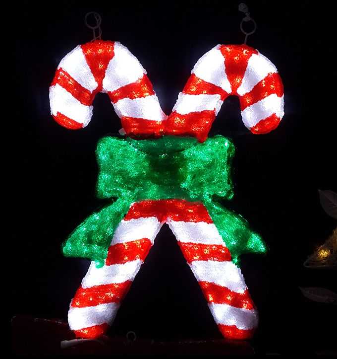 China Factory Christmas Outdoor Candy Cane Decorations Lighted Canes Production Line Product On