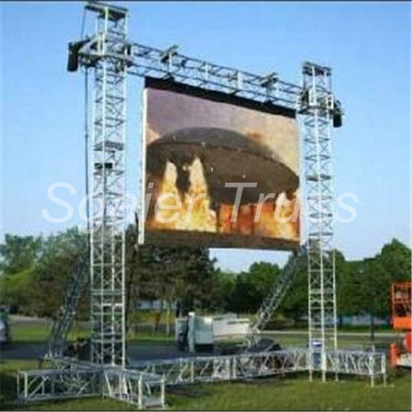 Commercial Lighting Hire: Outdoor Led Display Screen Truss Of Equipment Rental