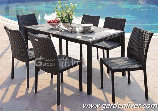 hotsale mimbre al aire libre muebles de ratn mesa de comedor y sillas ratan muebles juego