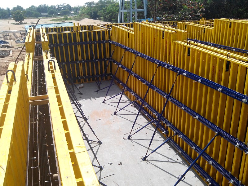 Design Of Concrete Wall Formwork : Steel beam concrete wall formwork buy for