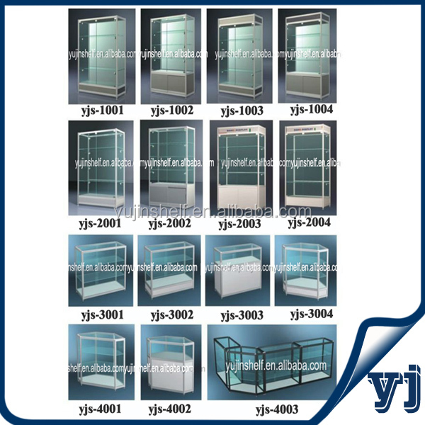 Moderne Sieraden Aluminium Glas Display Showcase