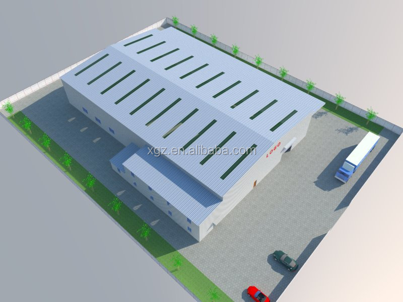 steel structure factory building plans
