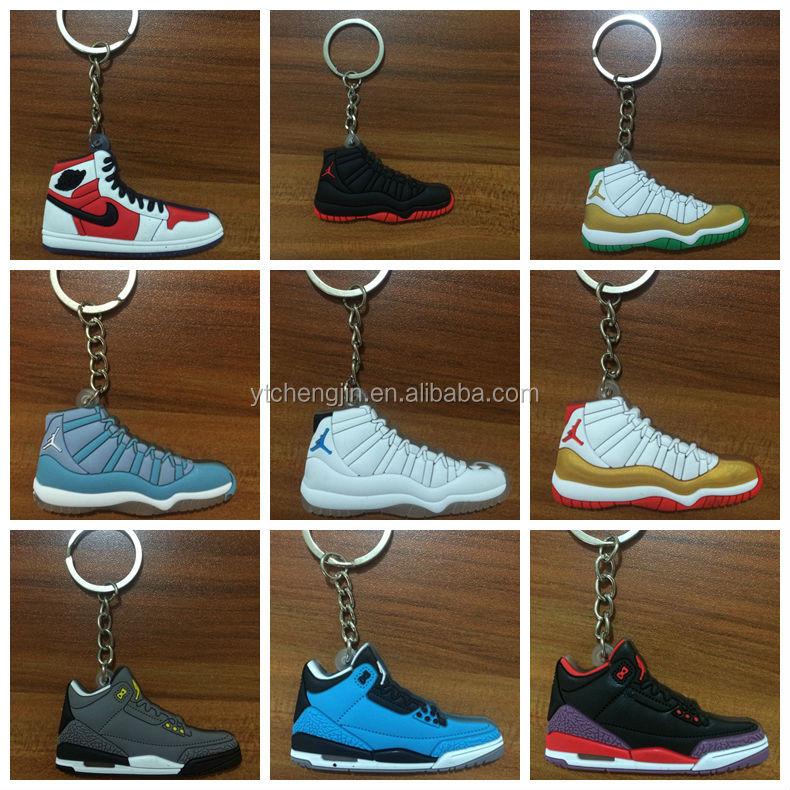 air jordan sneaker 3d keychains foamposite with brand logo