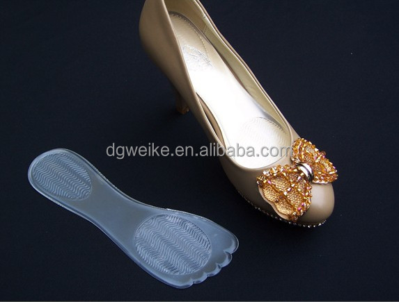 Wholesale Silicone + Pile Shoe Sole Pad / Removable Insole for Ladies