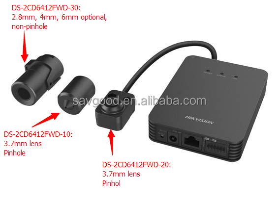 Cost-effective 1.3 Megapixel WDR network very very small hidden camera DS-2CD6412FWD