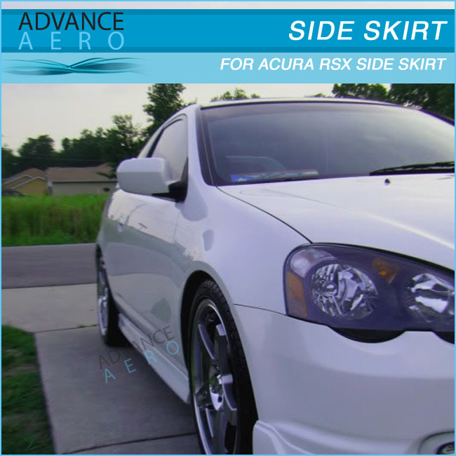 For 2002 2003 2004 2005 2006 Acura Rsx Dc5 T-r Style Side Skirts ...