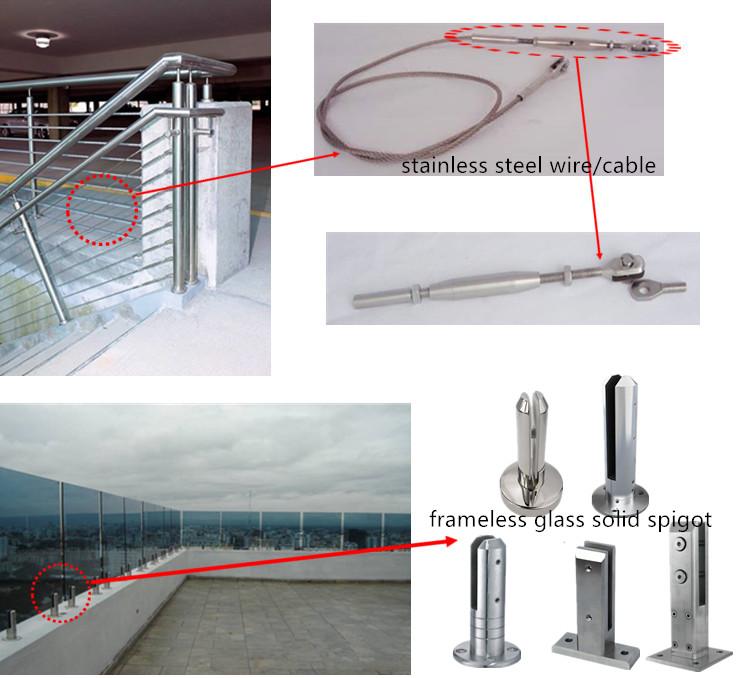 Aluminum Base Channel Glass Railing Staircase Frameless Glass ...