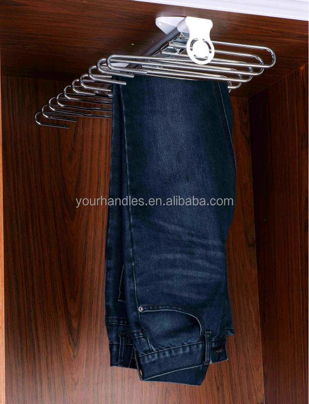 Furniture Closet Sliding Pants Hanger Trousers Rack,pull Out Pant Rack  Closet