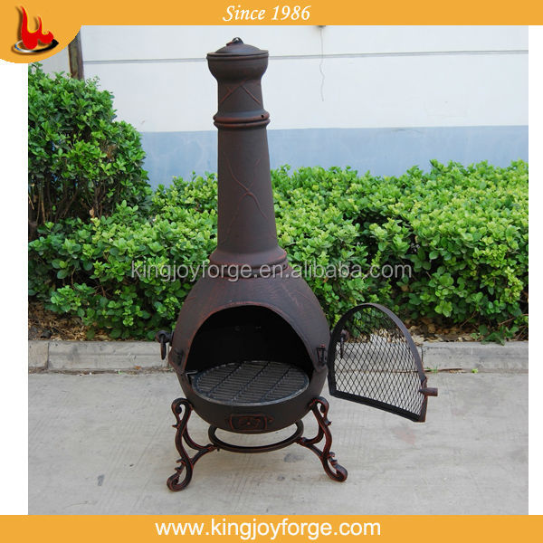 Cast Iron Copper Finished Chiminea Outdoor Fireplace Buy Cast