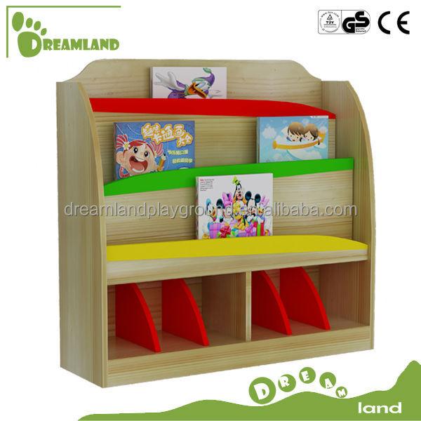 Nuevo dise o kindergarten muebles madera ni os estanter a for Muebles para preescolar