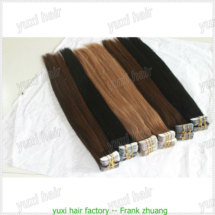 Cheap price tape virgin hair extension,super tape hair
