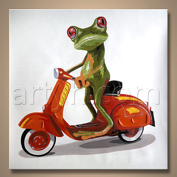 Frog With Glasses Painting Artist