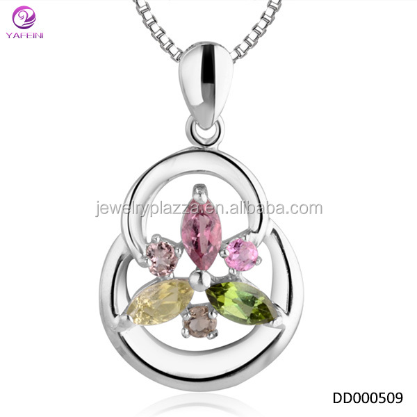 YFN Beautiful design Ladies Stone Jewelry Pendant Colored Stone