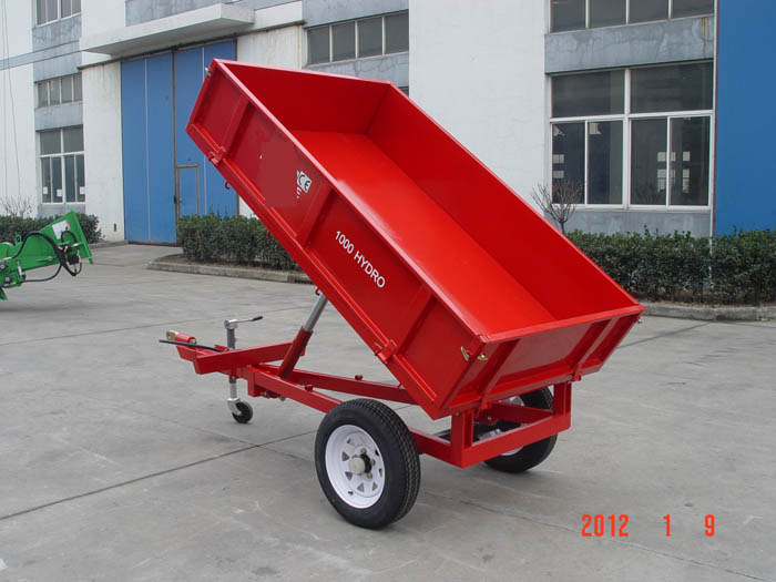 Farm Walking Small Mini Tractor Tipping Trailer For Sale